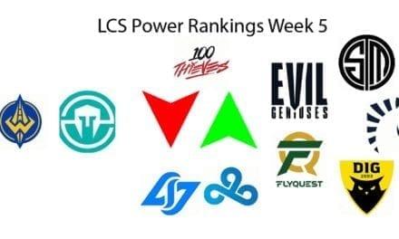 LCS Power Rankings Week 5