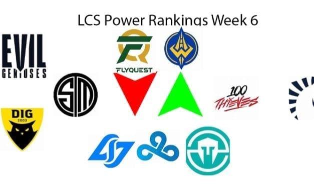 Lcs Power Rankings Week 6